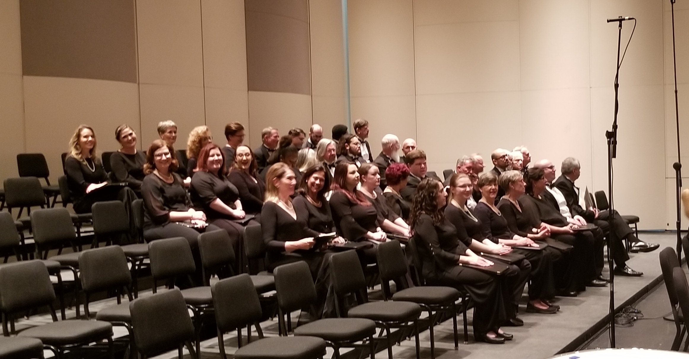 Choral Artists of Sarasota  on stage at the Van Wezel Performing Arts Hall